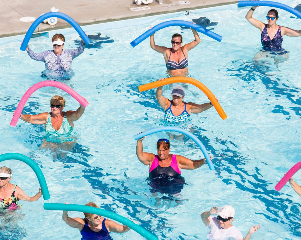 Group Exercising in Pool
