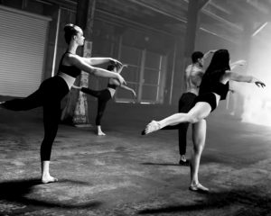 Group of people in a Barre class