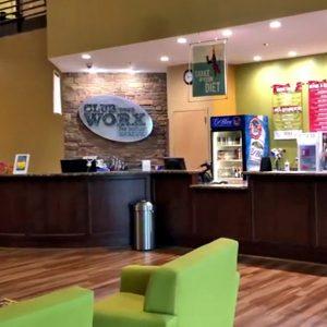 ClubWorx main reception area and juice bar